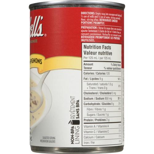 Campbell's Cream Of Mushroom Condensed Soup 284 mL