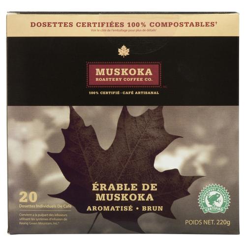 Muskoka Roastery Coffee Muskoka Maple 20 Keurig Compatible Pods 220 g