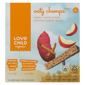 Love Child Organics Oaty Chomps Apple Sweet Potato Baby Bars 138 g