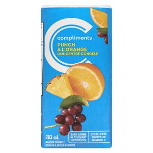 Compliments Frozen Juice Orange Punch 283 ml
