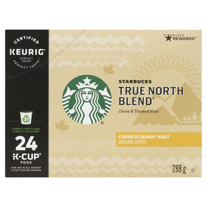 Starbucks True North Blend Coffee K-Cup Pods 24 EA